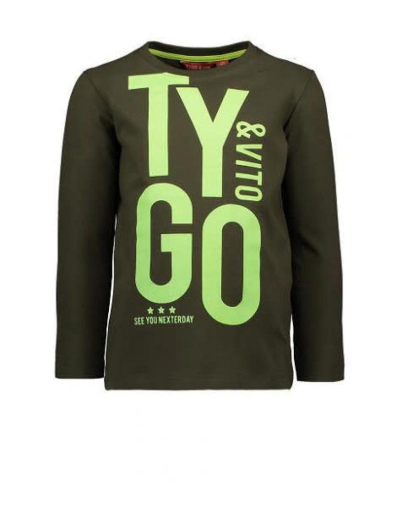 Tygo & Vito T&v  t-shirt LS TYGO&vito army