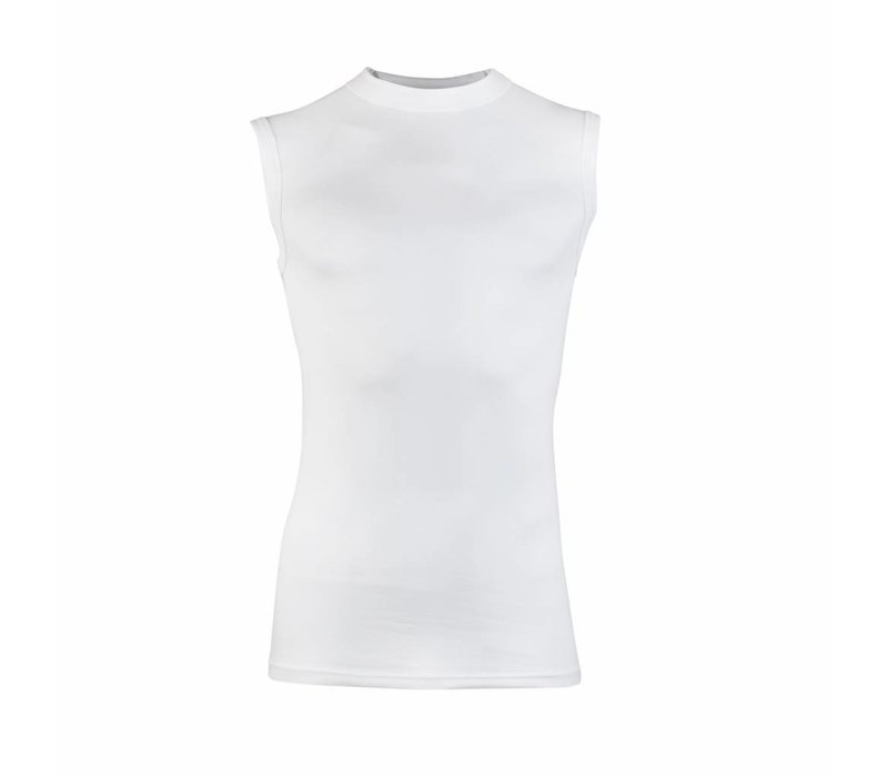 heren mouwloos comfort feeling hemd wit