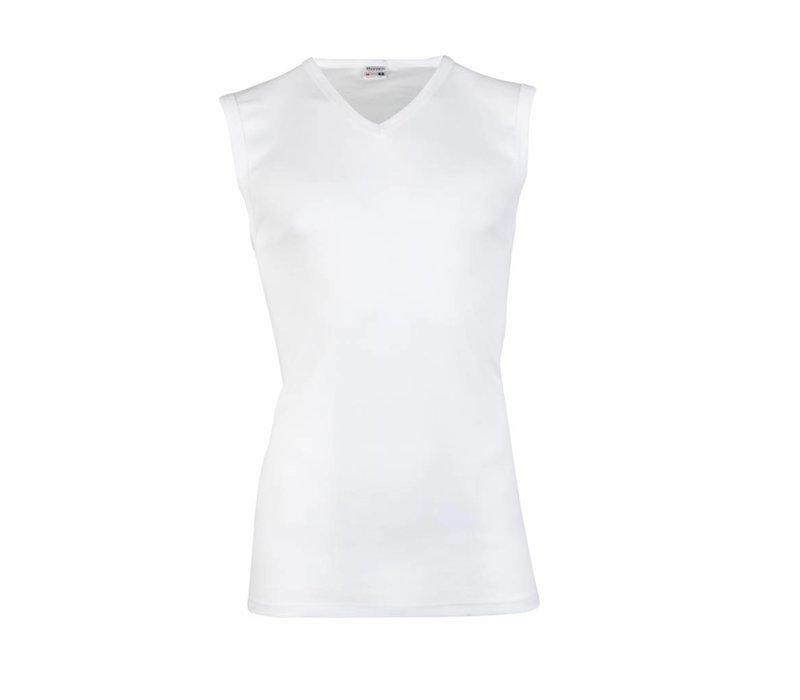 heren hemd V-hals wit