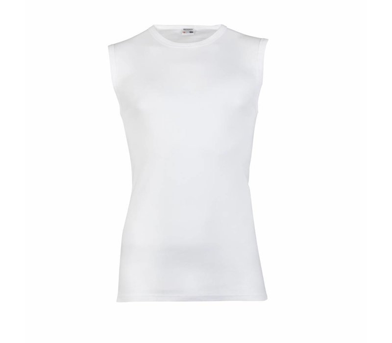 heren mouwloos shirt M3000 wit
