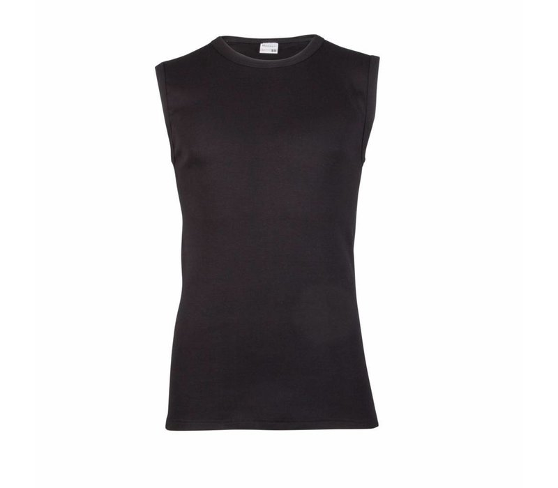 heren mouwloos shirt M3000 zwart