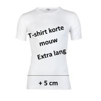 heren T-shirt extra lang M3000 wit