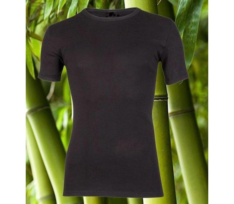 heren beeren bamboo T-shirt zwart