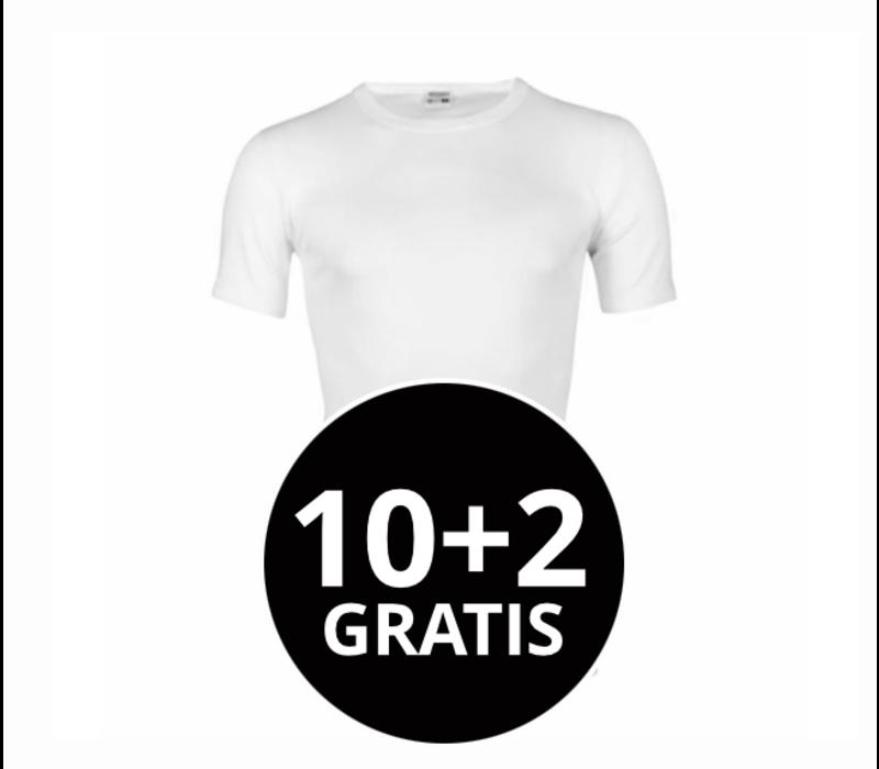 Beeren Heren T-Shirt Extra Lang M3000 Wit Mega voordeelpack
