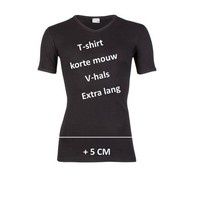Beeren Heren V-Hals T-Shirt Extra Lang M3000 Zwart Mega voordeelpack