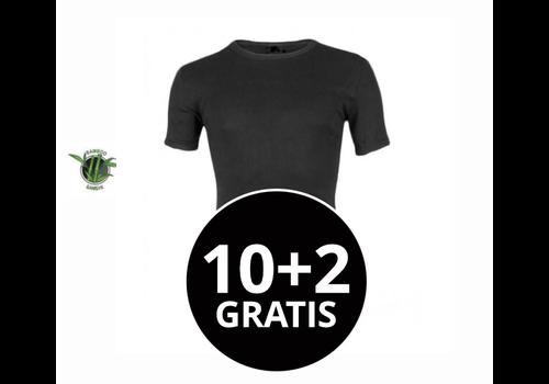 Heren Bamboo T-Shirt Zwart Mega voordeelpack