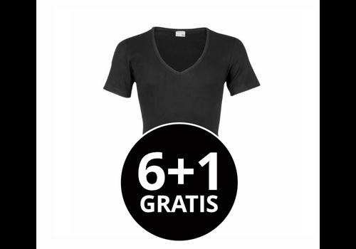Beeren Heren T-Shirt Diepe V-Hals M3000 Zwart voordeelpack