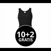 Beeren Heren Singlet M3000 Zwart Mega Voordeelpack