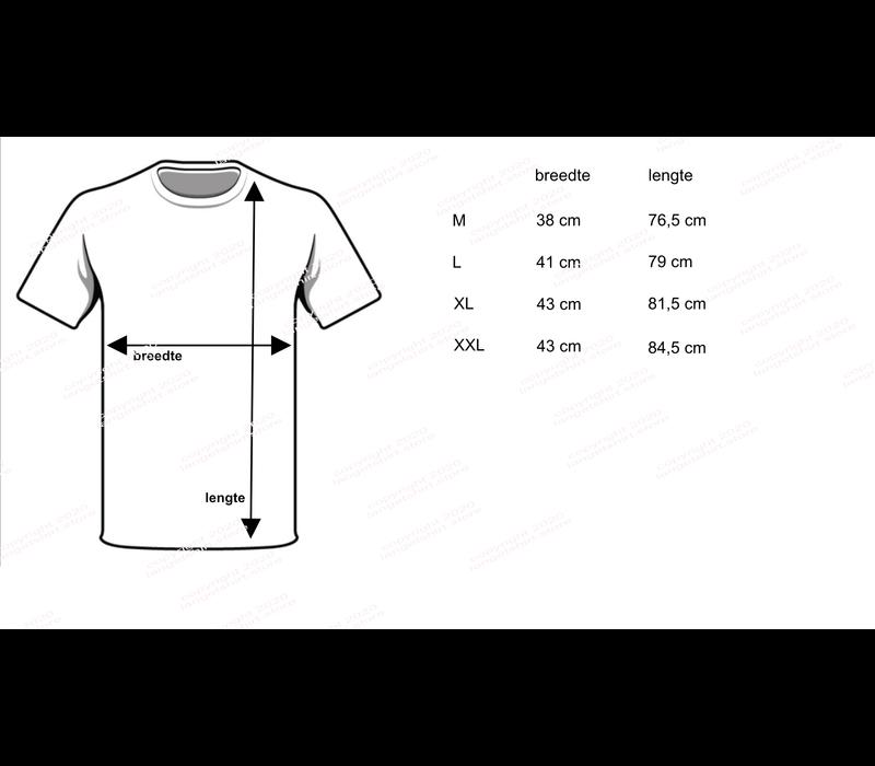 heren T-shirt extra lang M3000 zwart
