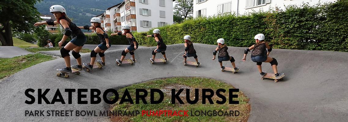 Skateboard Kurse Pumptrack