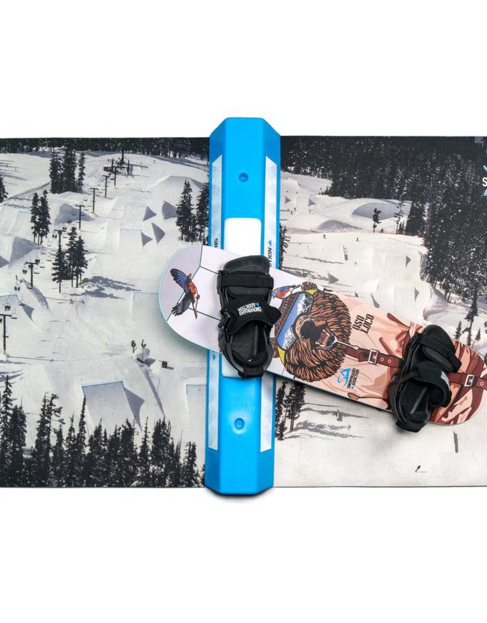 Snowboard Addiction Snowboard Addiction Training Mat Teppich für das Trockentraining