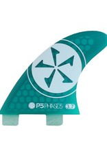 Phase Five Phase Five 3.7 FCS Twin Fin Green for Surf Style Boards