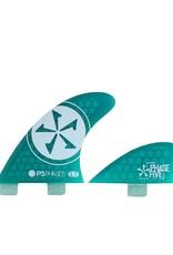 Phase Five Phase Five 3.7 FCS Quad Finnen in grün für Surf-Style Bretter