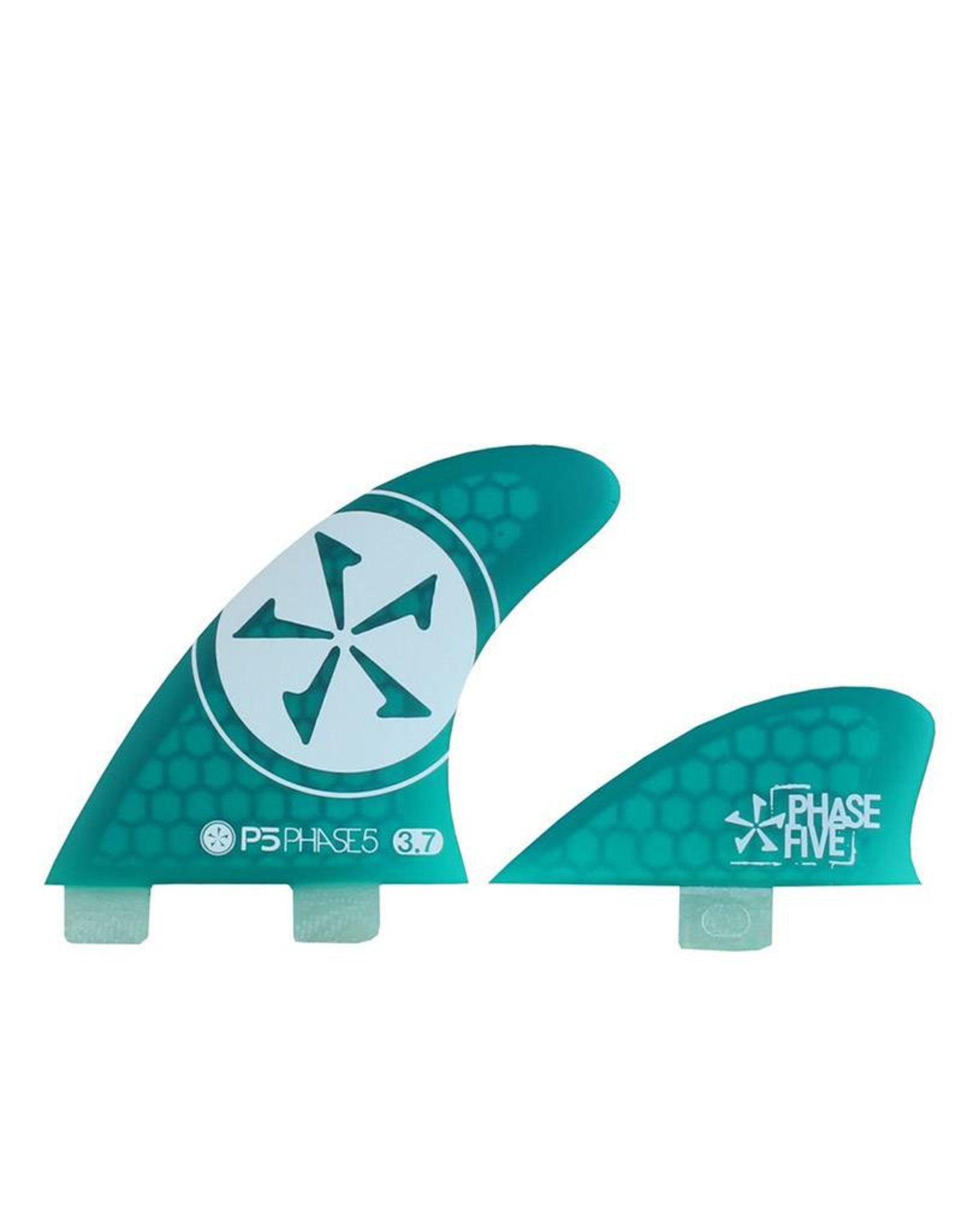 Phase Five Phase Five 3.7 FCS Quad Fin Set Green for Surf Style Boards