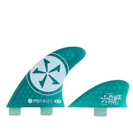 Phase Five 3.7 Surf Quad Fin Set Green