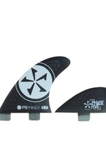 Phase Five Phase Five 3.7 FCS Quad Fin Set Black for Surf Style Boards