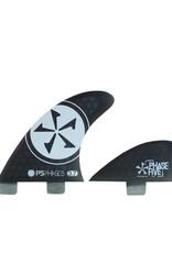 Phase Five Phase Five 3.7 FCS Quad Finnen in schwarz für Surf-Style Bretter