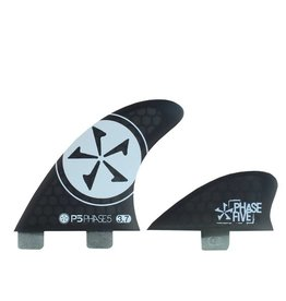 Phase Five 3.7 Surf Quad Fin Set Black