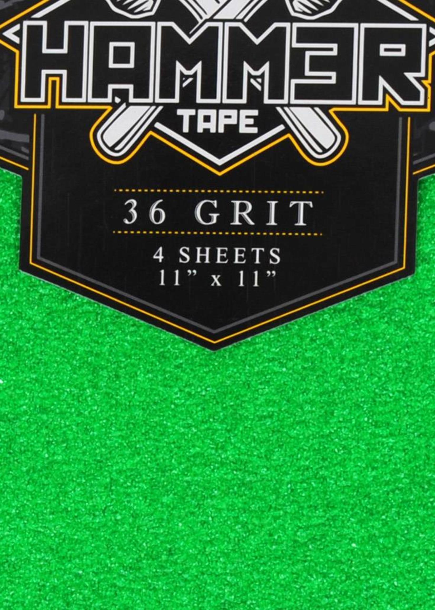Hammer Tape Hammer Griptape 36er-Korn Green 4 Matten à 28 x 28 cm