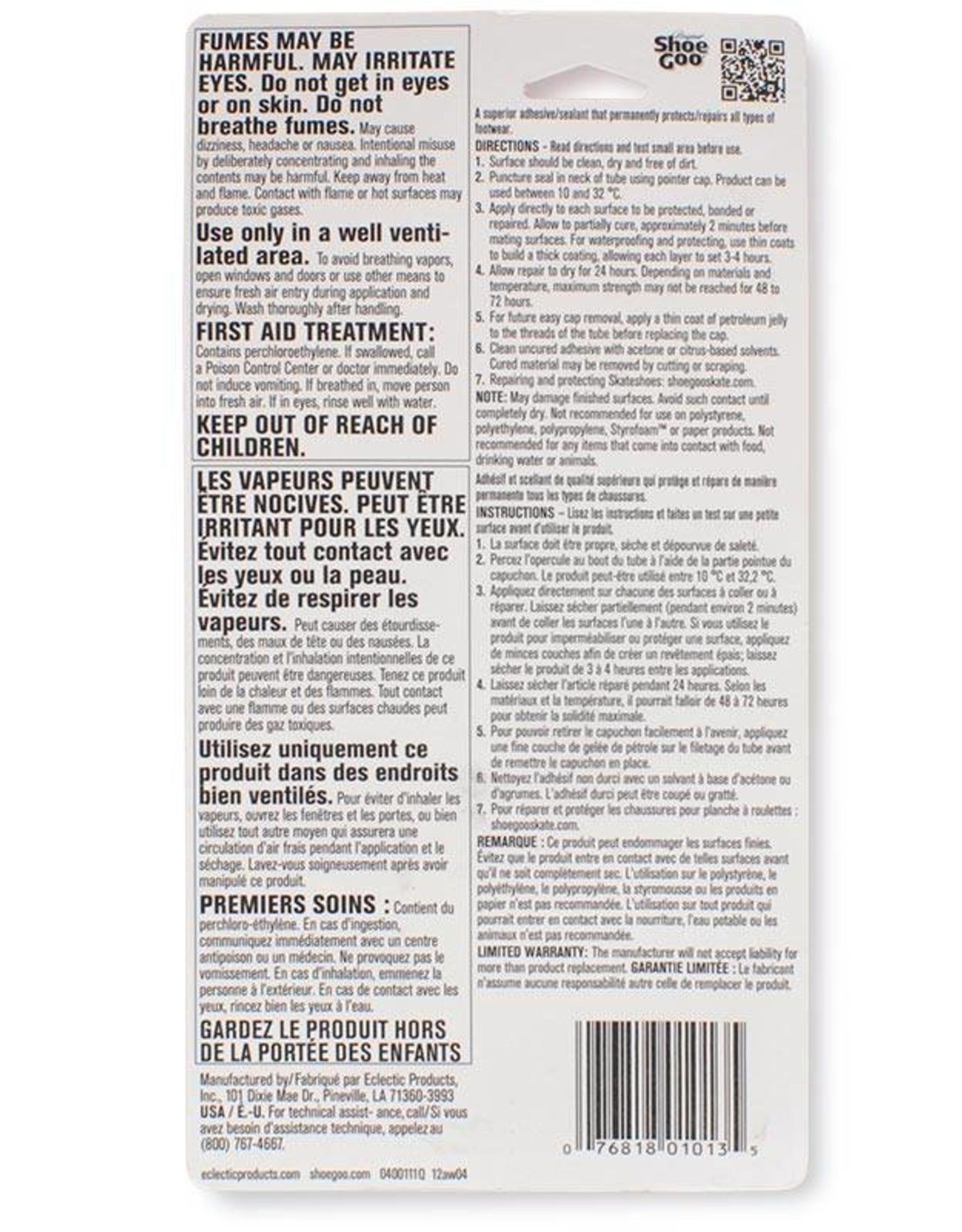 Shoe Goo Shoe Goo Original 110 ml Clear Repair Adhesive