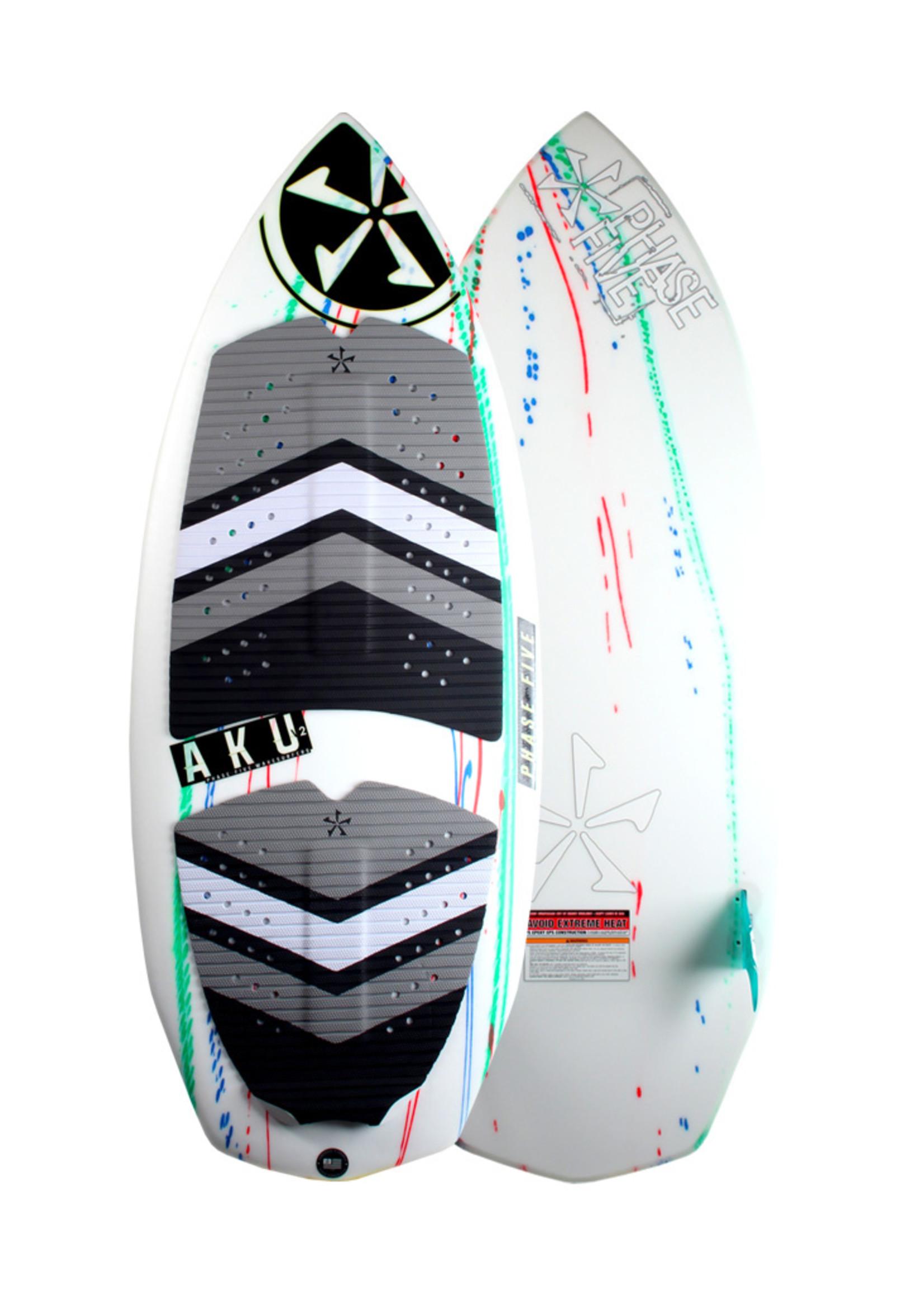 "Phase Five Phase Five Aku V2 58"" Surf-Style Wakesurf"