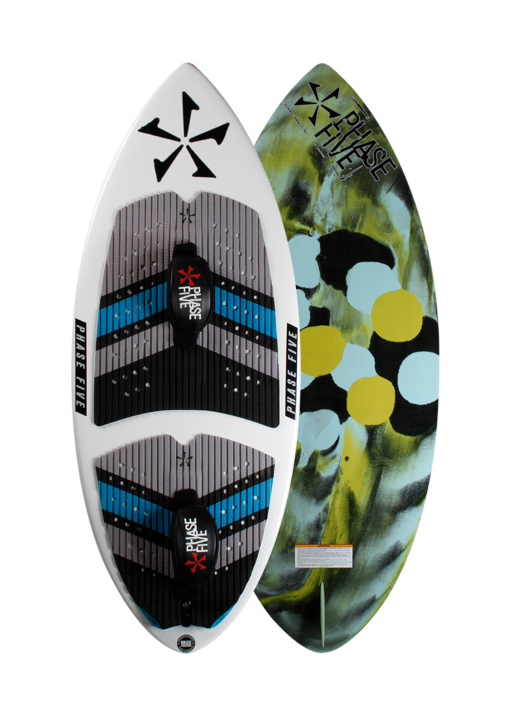 """Phase Five Phase Five Ratchet 54"""" Skim Style Wakesurf with Foot Straps"""