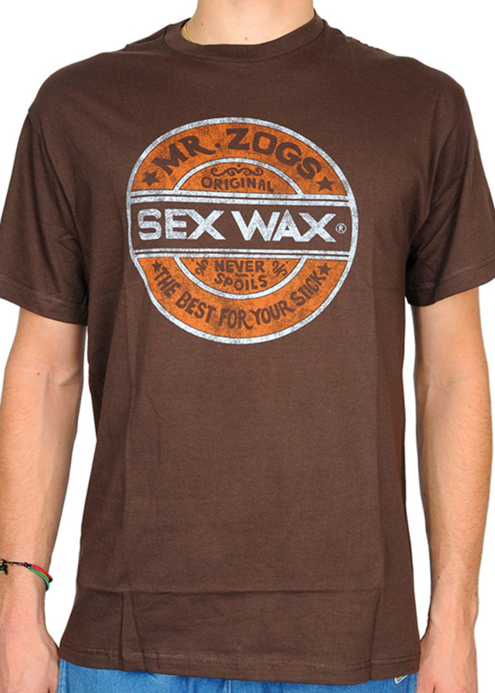 Sex Wax Sex Wax Distress Retro T-Shirt Brown