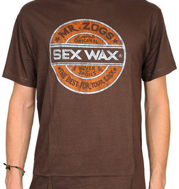 Sex Wax Distress Retro T-Shirt Brown
