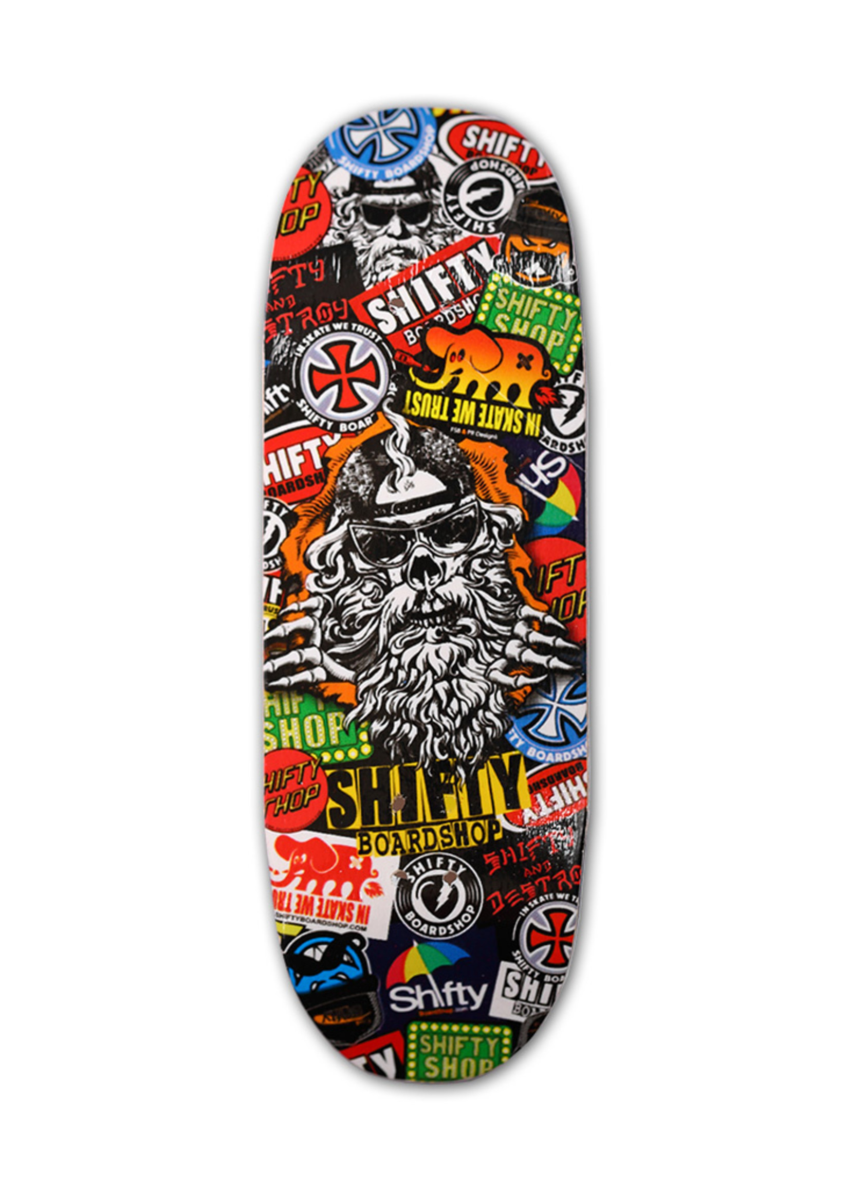 Close Up Fingerboards Close Up Shifty Stickers 34 mm Generation 5.1 Fingerboard Setup
