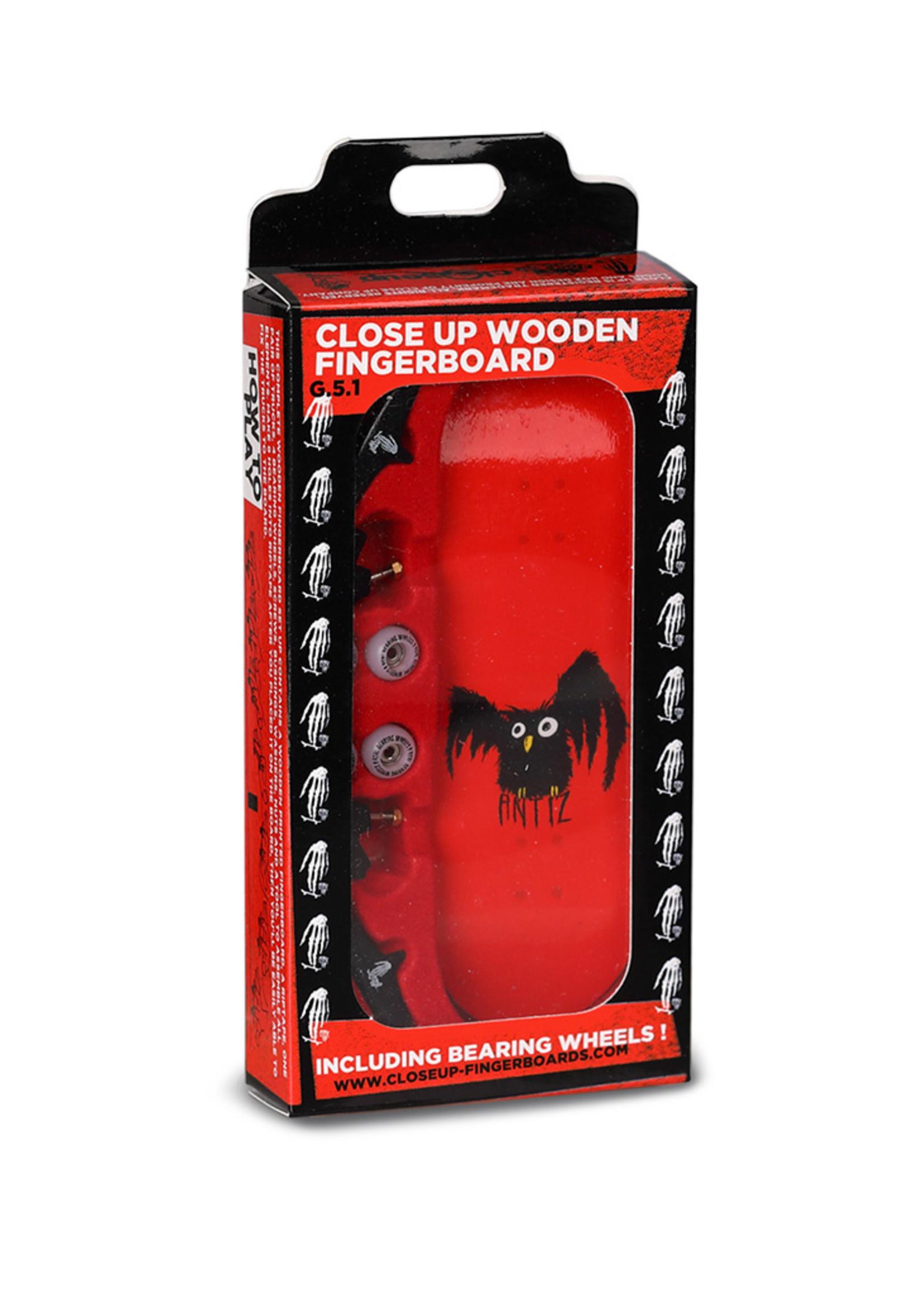 Close Up Fingerboards Close Up Antiz Owl 34 mm Generation 5.1 Fingerboard Setup