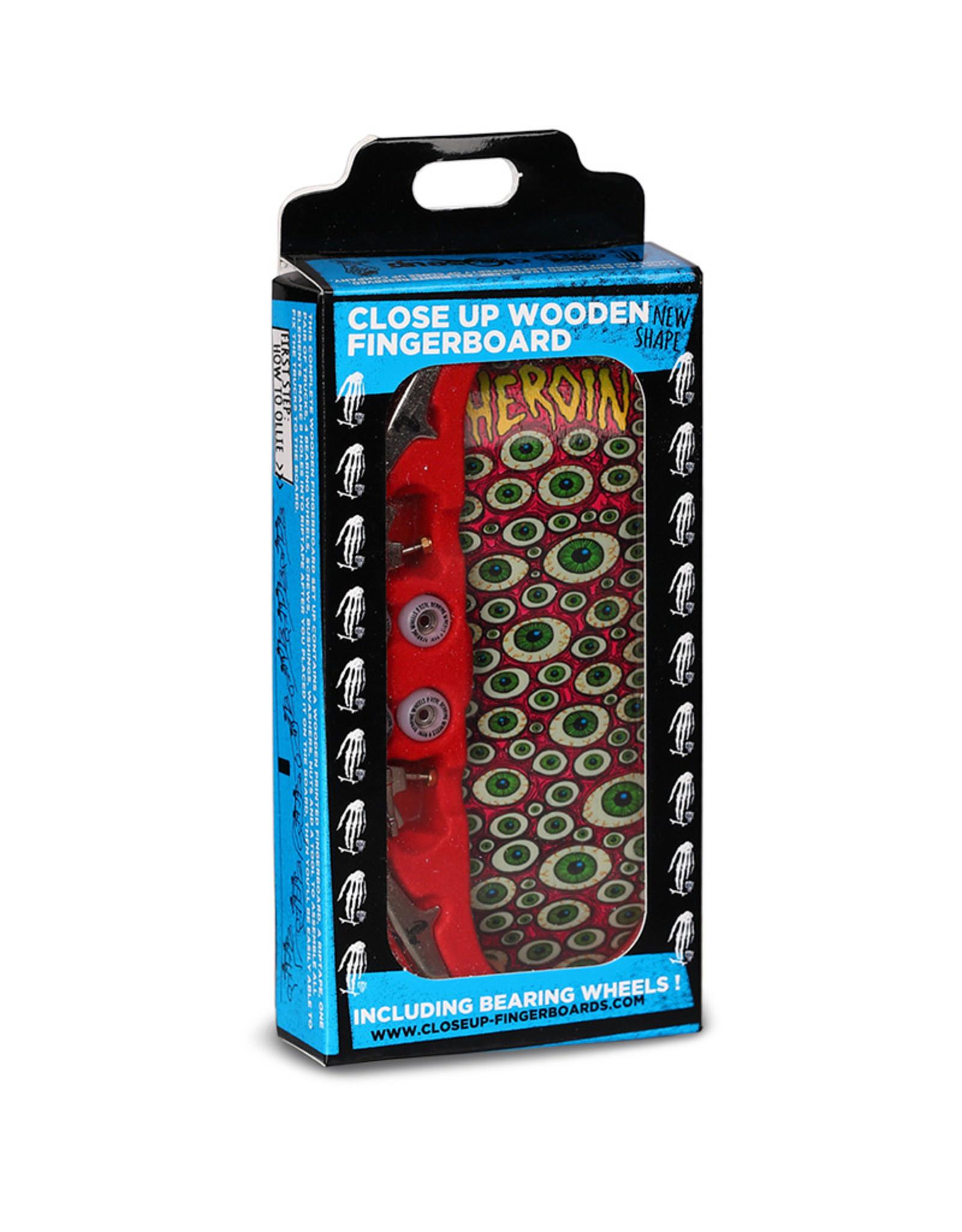 Close Up Fingerboards Close Up Heroin Eyes 34 mm Generation 5.1 Fingerboard Setup