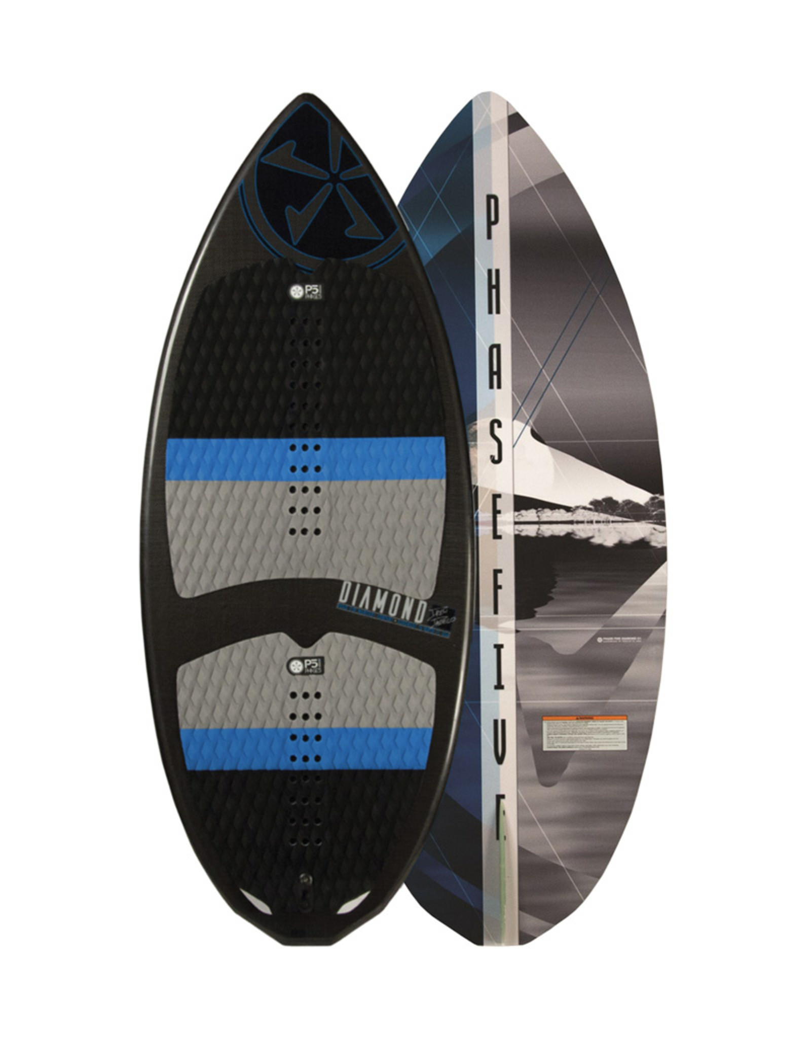 "Phase Five Phase Five Diamond Carbon 57"" Skim Style Wakesurf Demo Board"