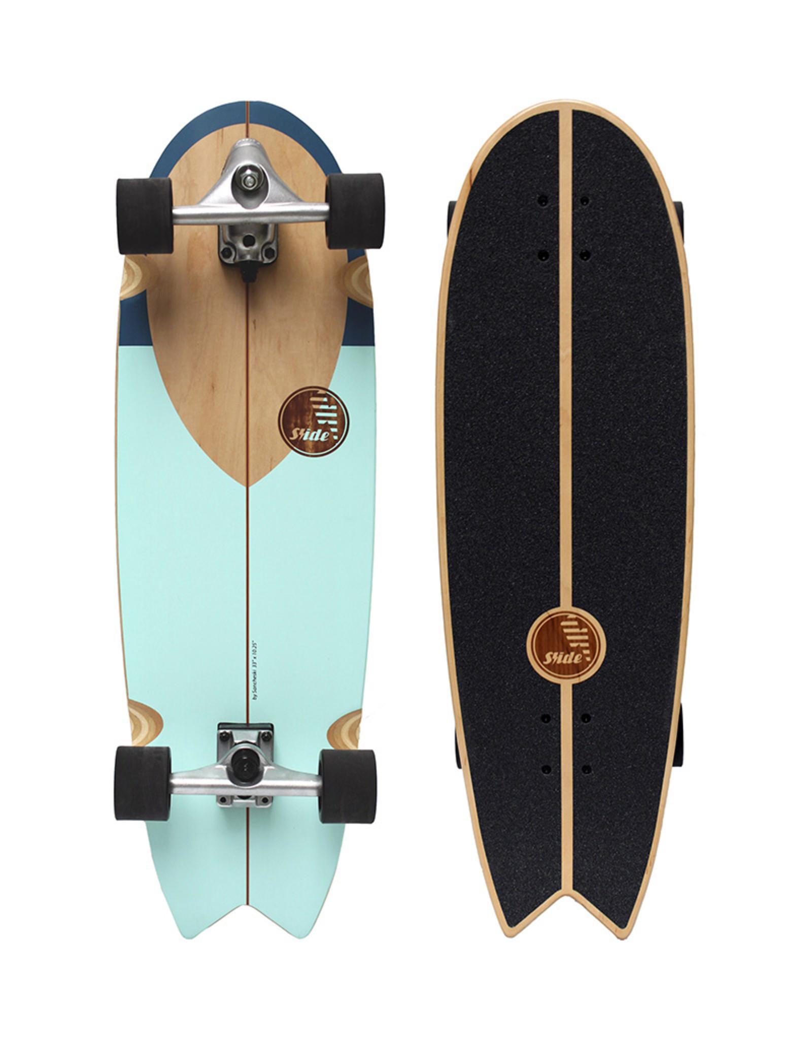 """Slide Surfskates Slide Swallow Noserider 33"""" Surfskate Komplettbrett"""