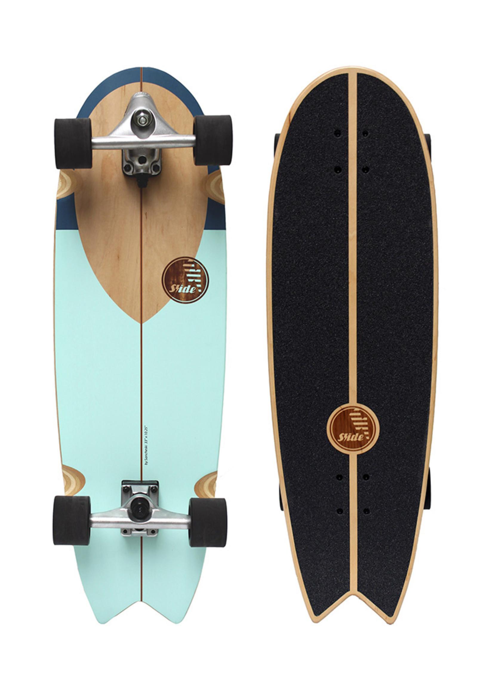 "Slide Surfskates Slide Swallow Noserider 33"" Surfskate Complete"