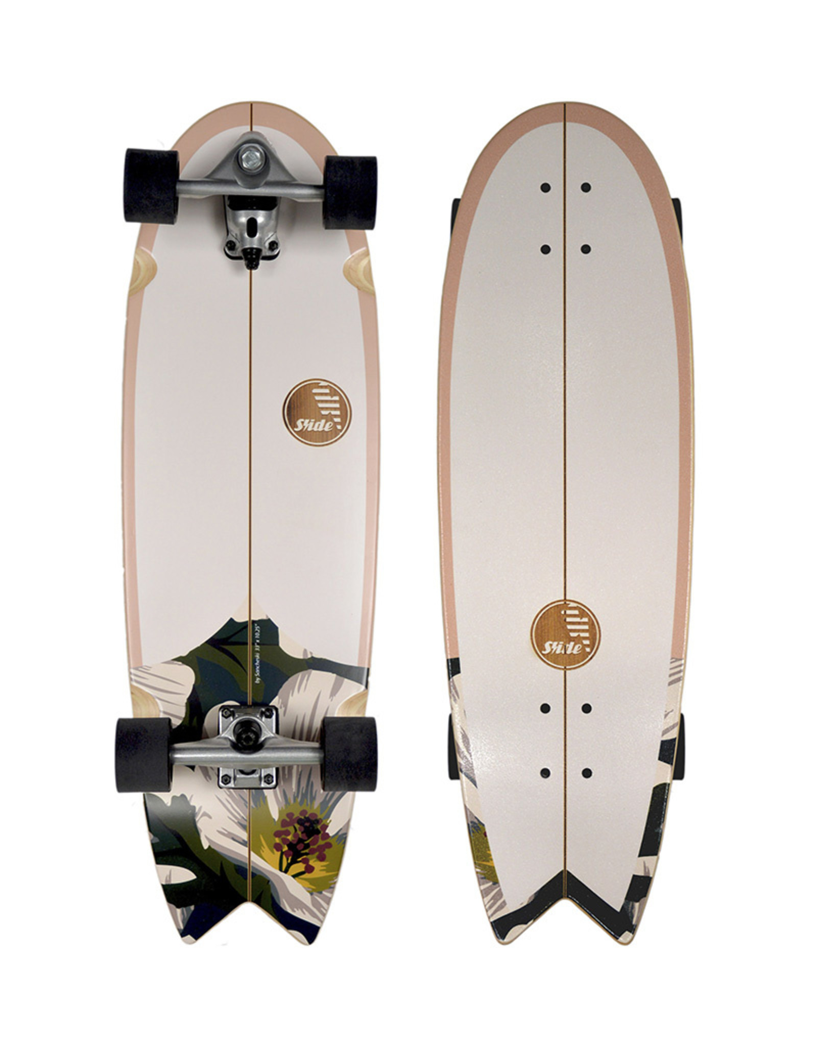 "Slide Surfskates Slide Swallow Wahine 33"" Surfskate Complete"