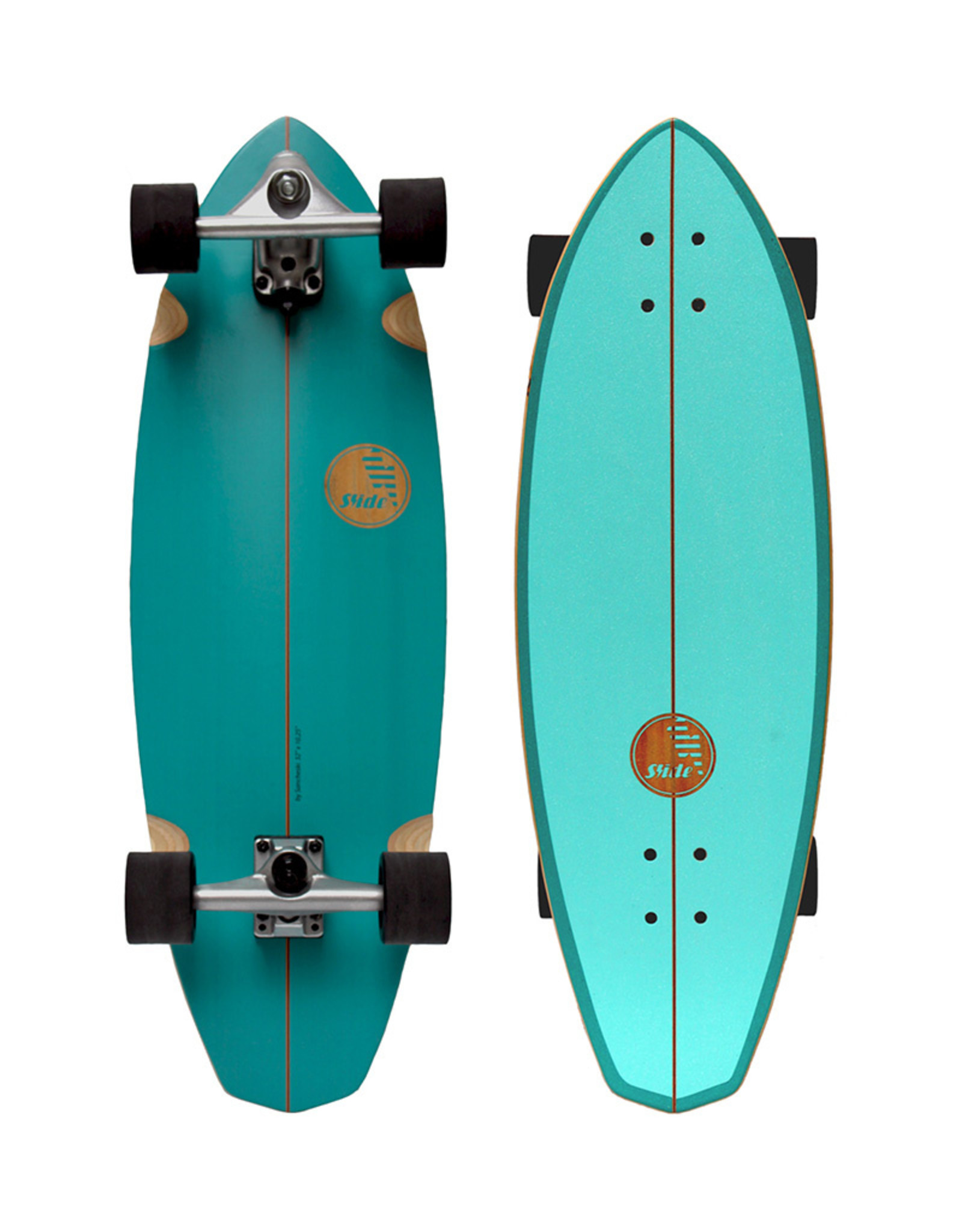 """Slide Surfskates Slide Diamond Belharra 32"""" Surfskate Komplettbrett"""