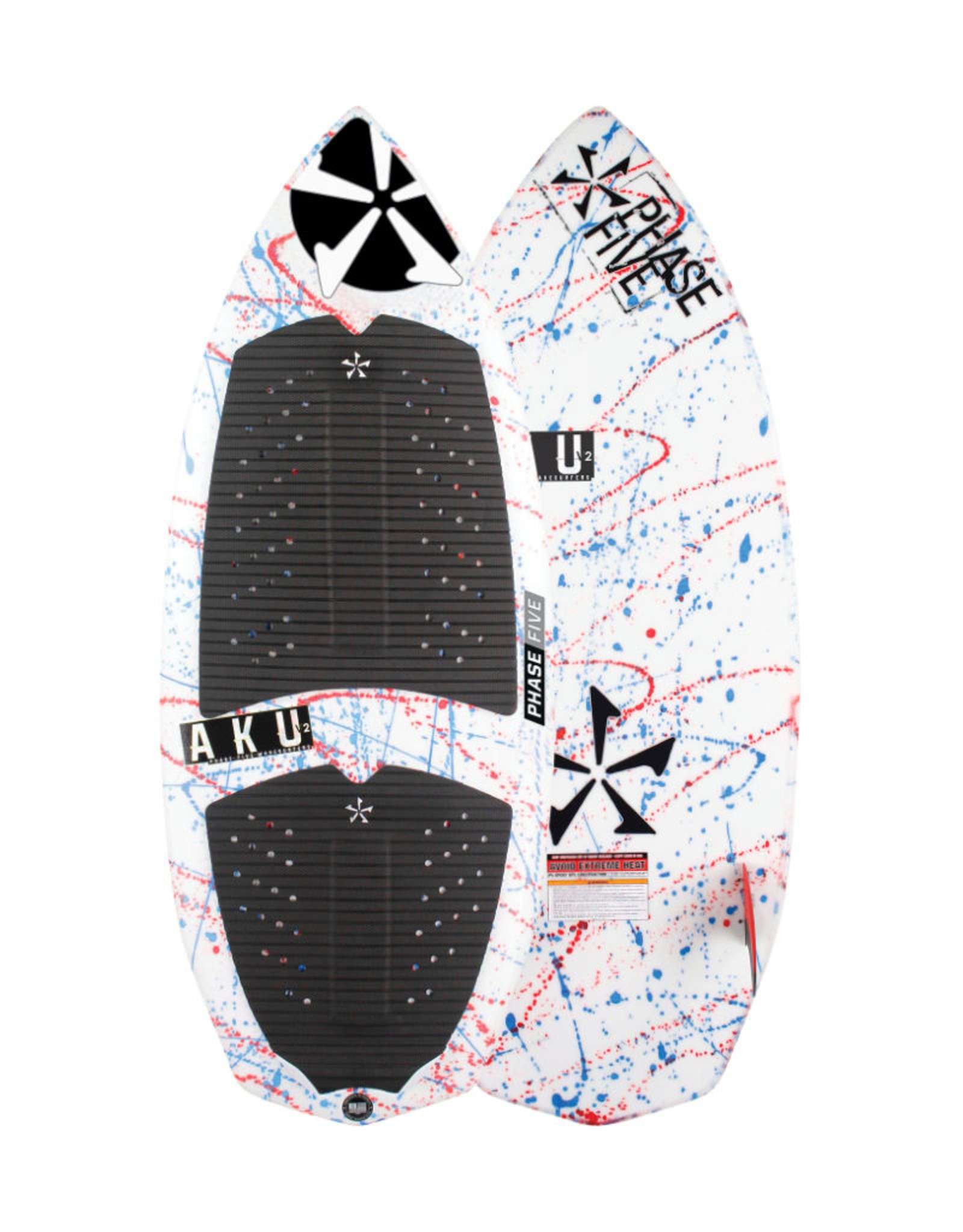 "Phase Five Phase Five Aku V2 53"" Surf Style Wakesurf"
