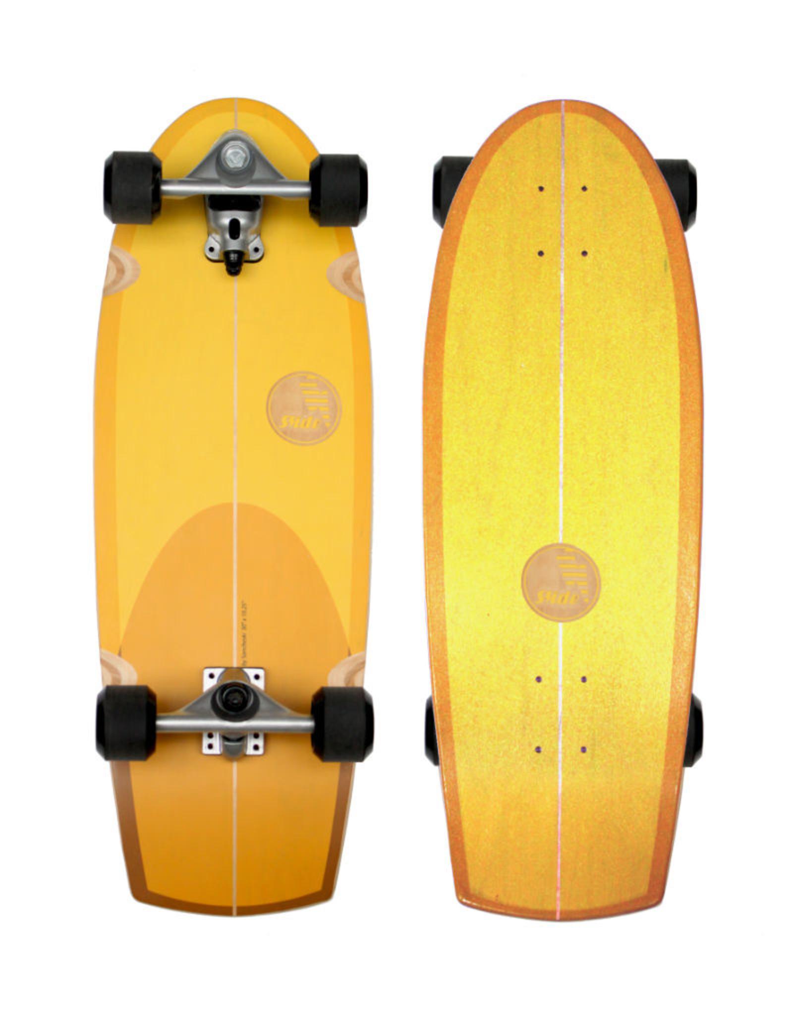 """Slide Surfskates Slide Quad Sunset 30"""" Surfskate Komplettbrett"""