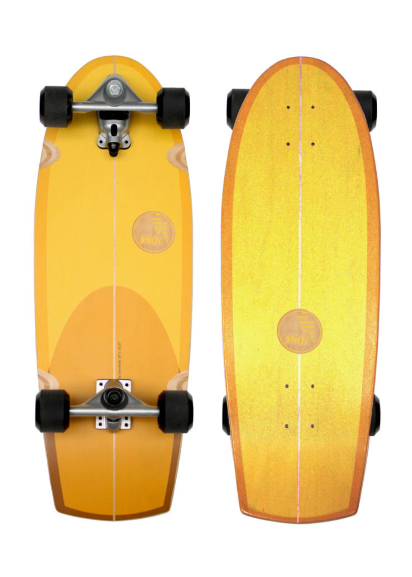 """Slide Surfskates Slide Quad Sunset 30"""" Surfskate Complete"""