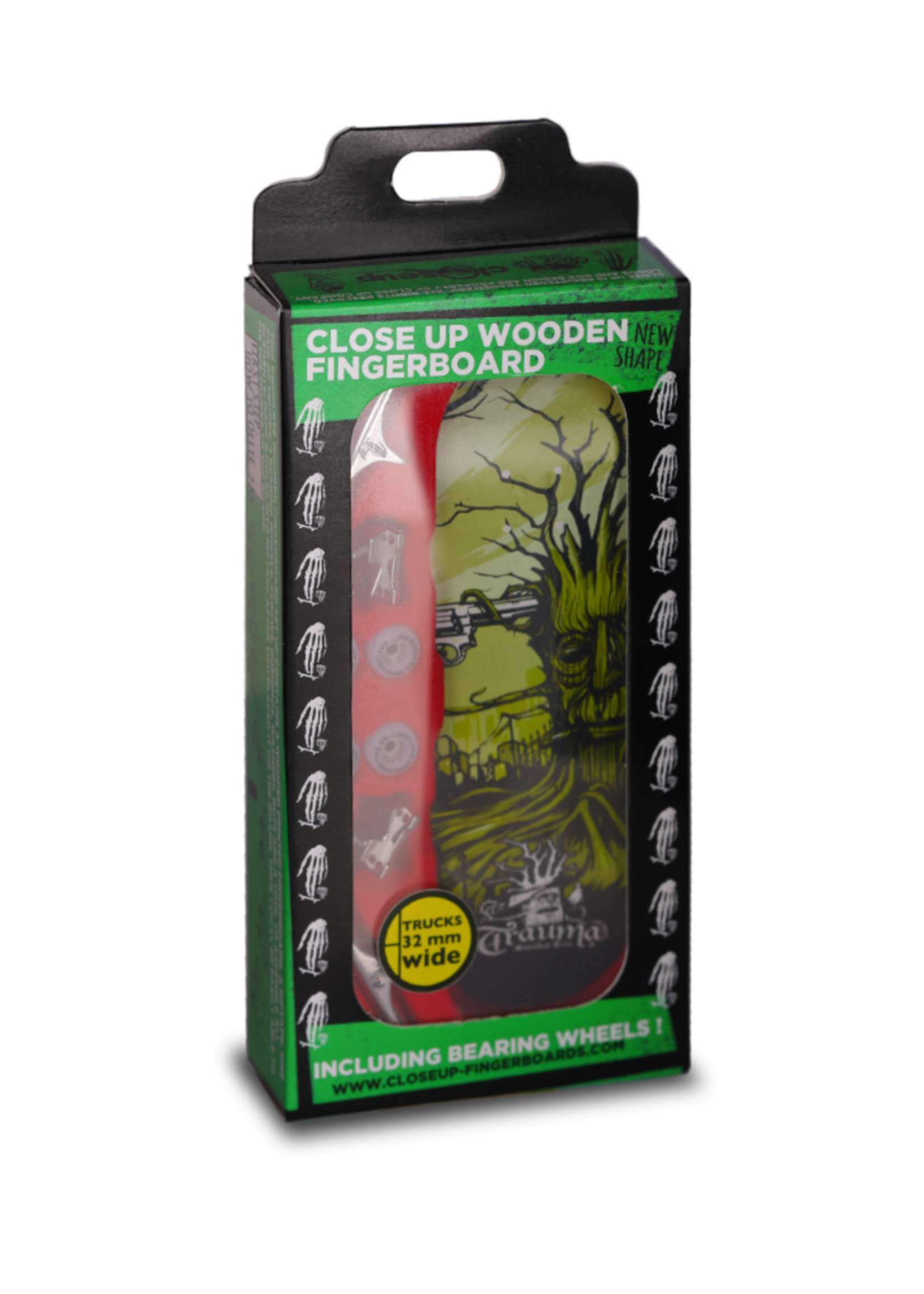 Close Up Fingerboards Close Up Trauma Suicidal Tree 34 mm Generation 5.1 Fingerboard Bausatz