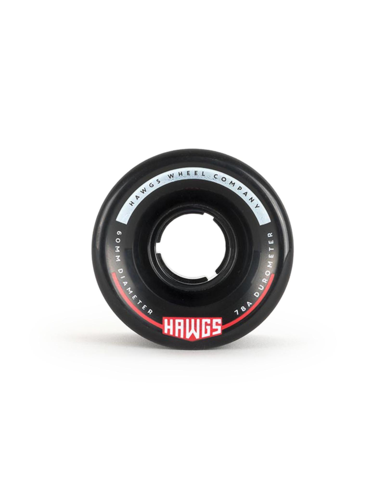 Hawgs Wheels Hawgs Chubby Wheels 60 mm 78A Black Set of 4