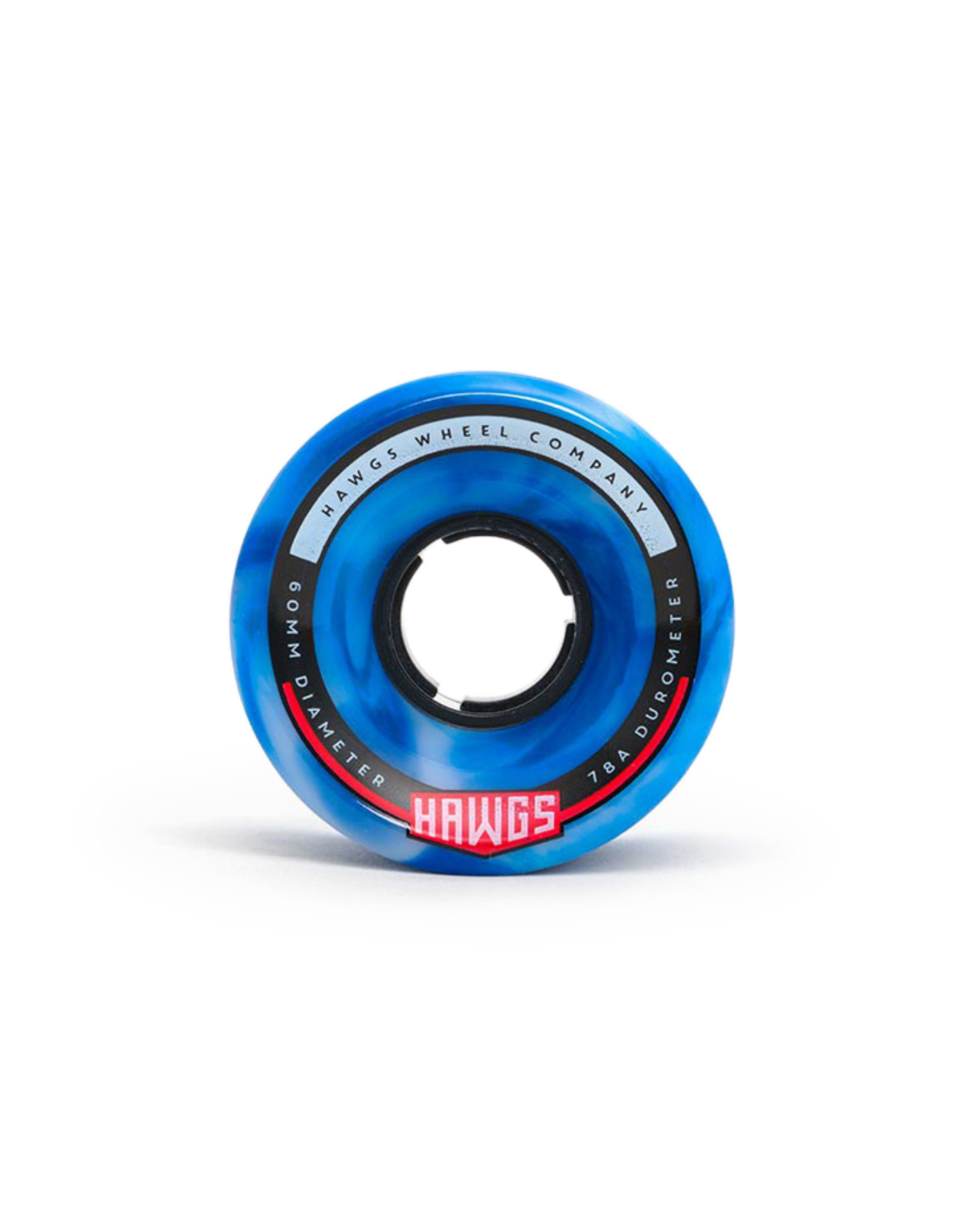 Hawgs Wheels Hawgs Chubby Wheels 60 mm 78A Blue/White Swirl Set of 4