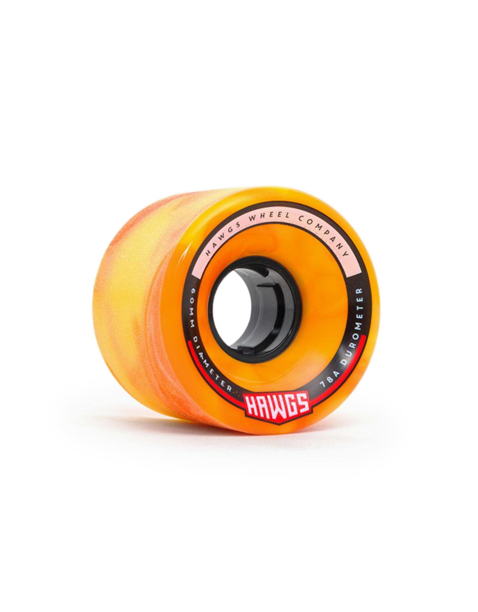 Hawgs Wheels Hawgs Chubby Wheels 60 mm 78A Orange/Yellow Swirl Set of 4