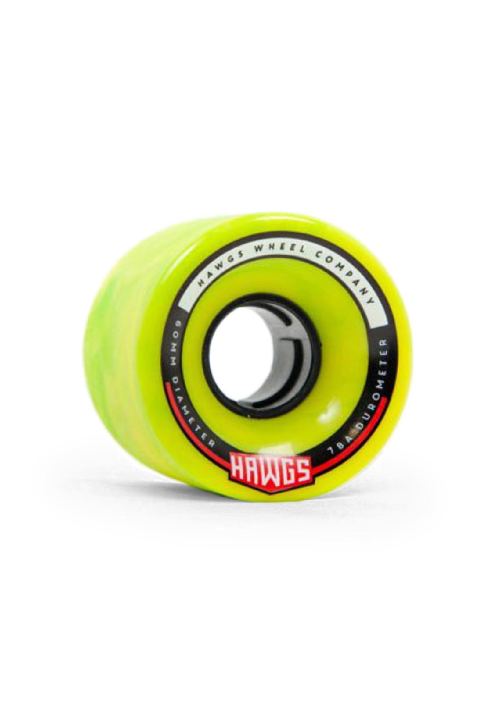 Hawgs Wheels Hawgs Chubby Rollen 60 mm 78A Green/Yellow Swirl 4er-Set