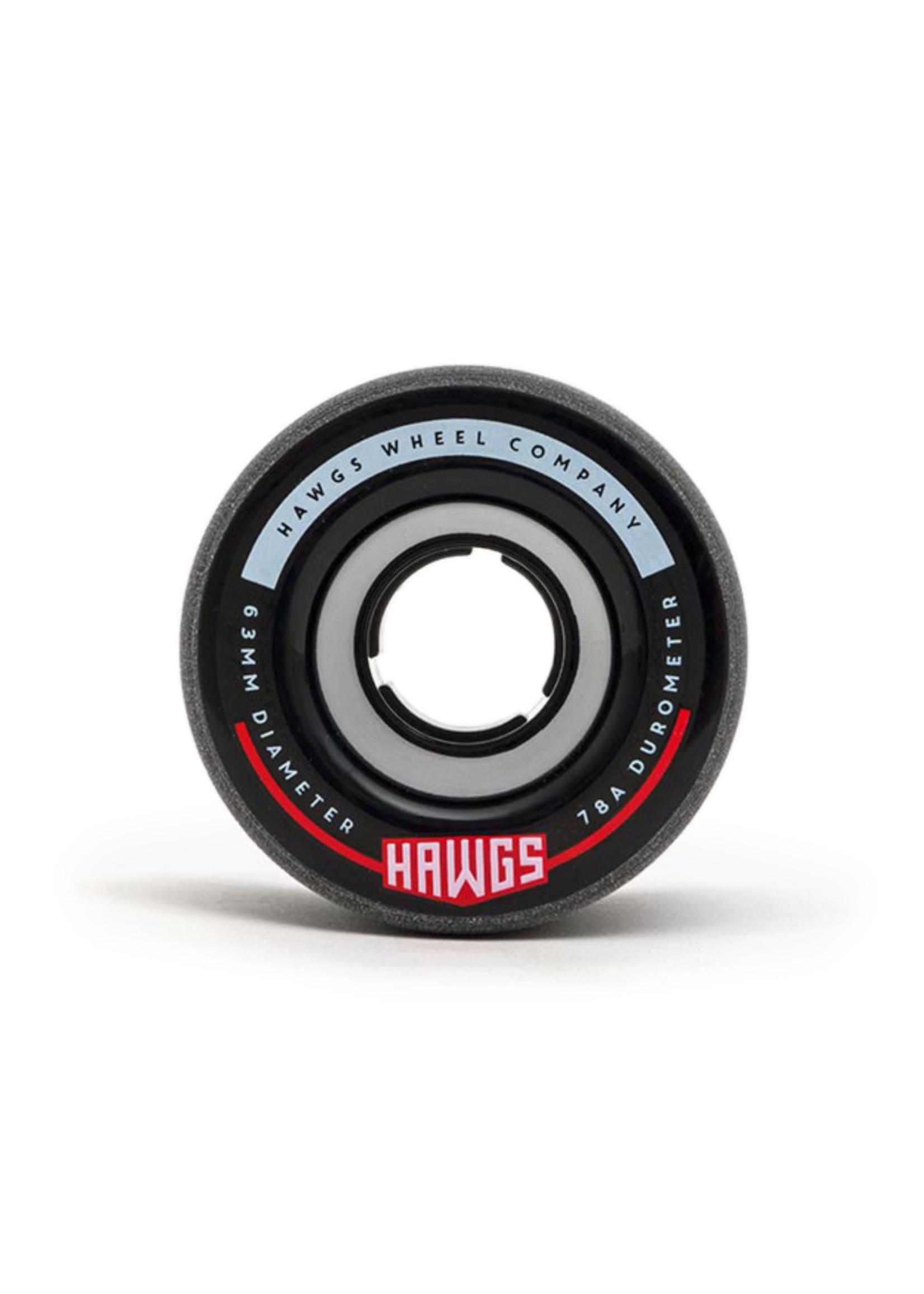 Hawgs Wheels Hawgs Fatty Wheels 63 mm 78A Black Set of 4