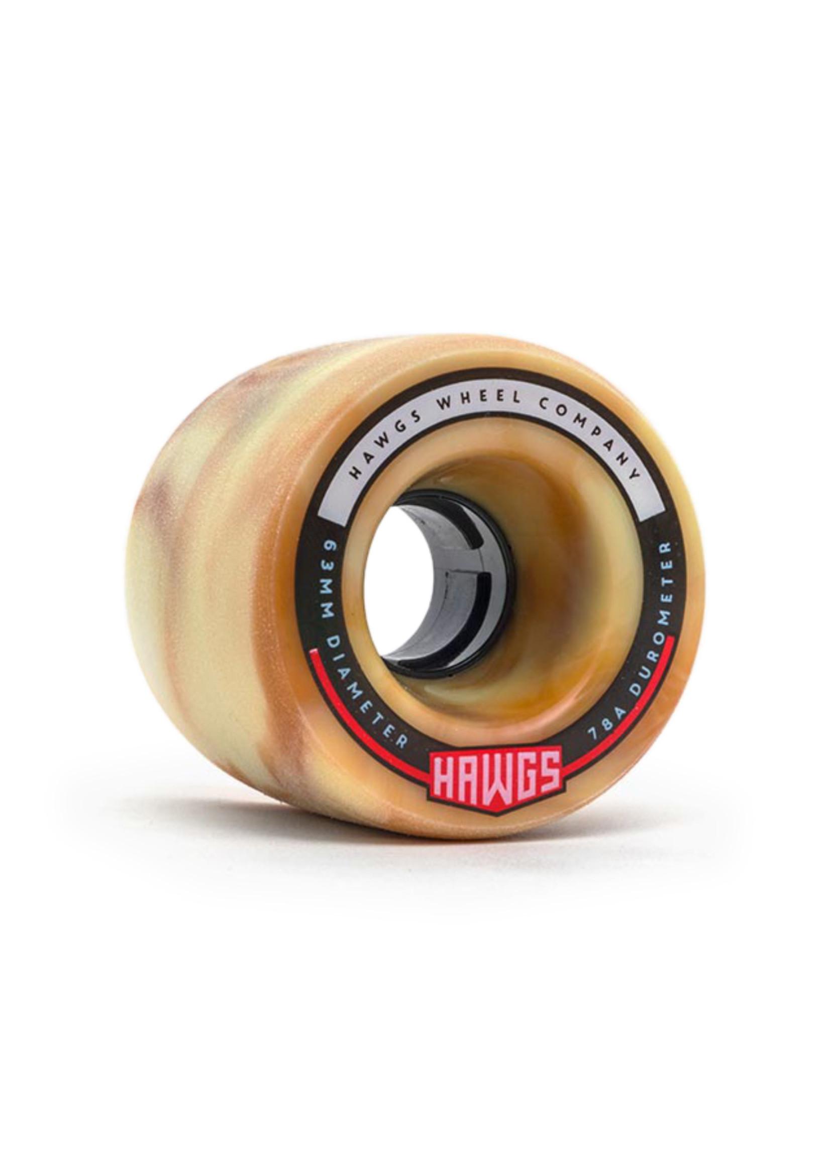 Hawgs Wheels Hawgs Fatty Rollen 63 mm 78A Mocha Swirl 4er-Set