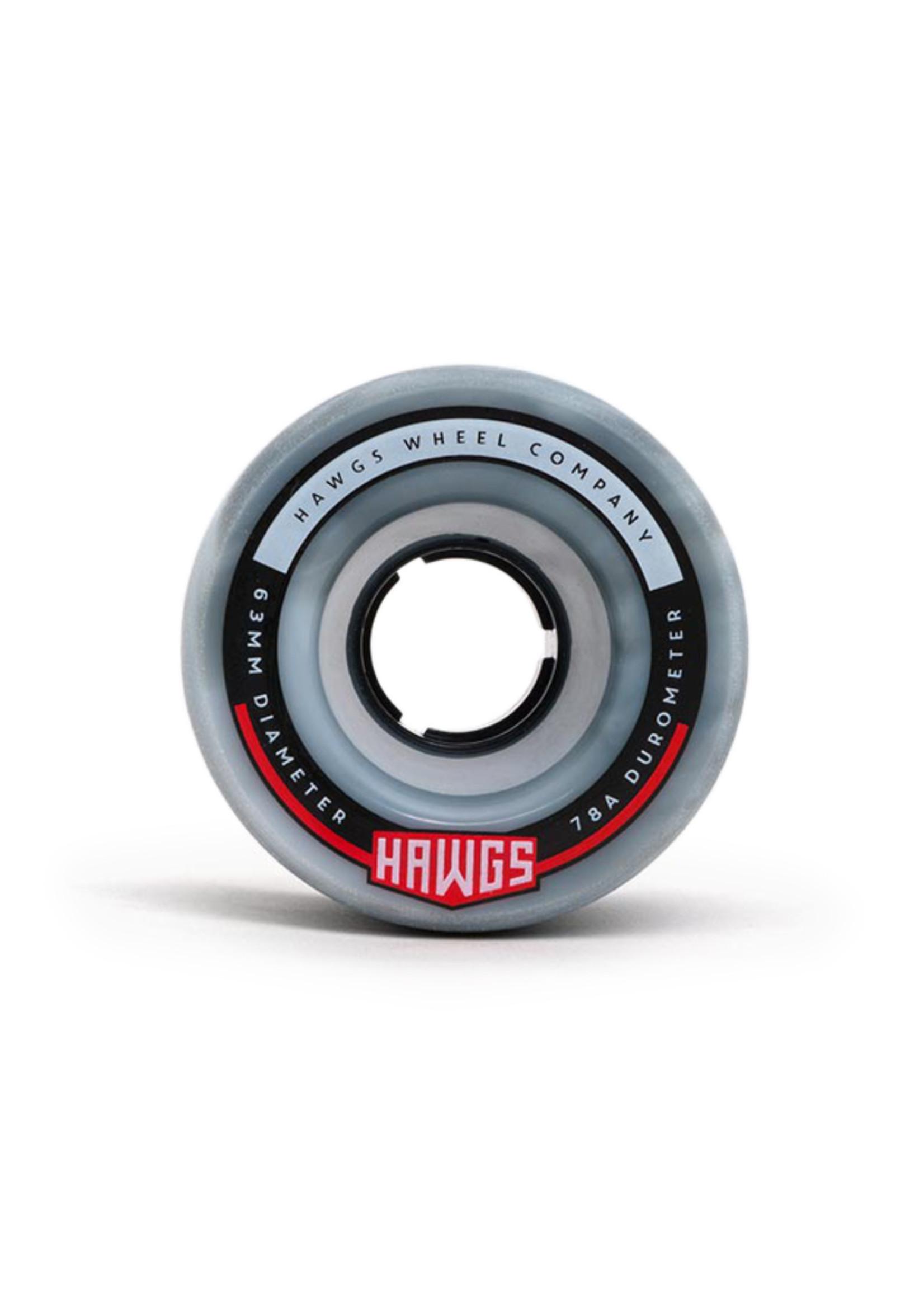 Hawgs Wheels Hawgs Fatty Wheels 63 mm 78A Grey/White Swirl Set of 4