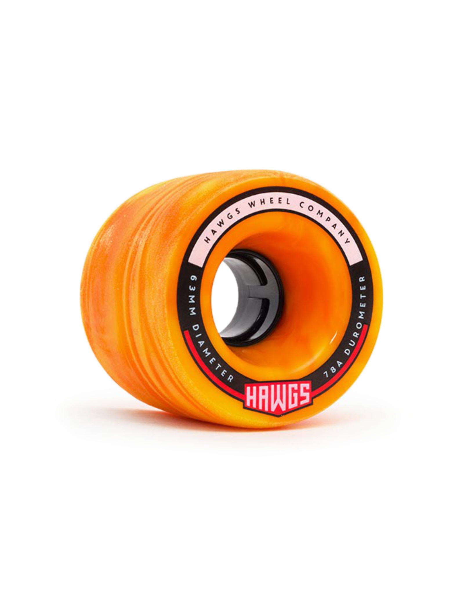Hawgs Wheels Hawgs Fatty Rollen 63 mm 78A Orange/Yellow Swirl 4er-Set