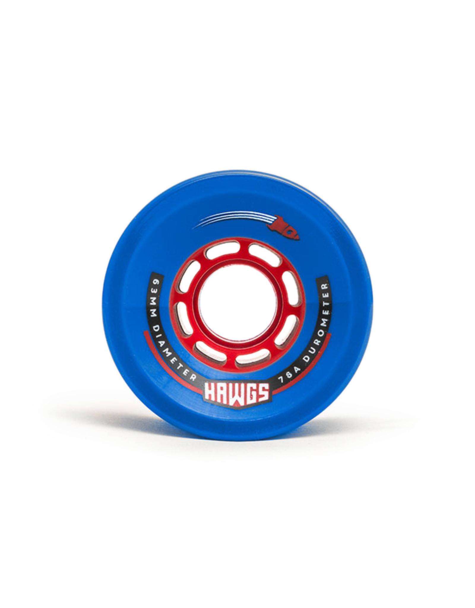 Hawgs Wheels Hawgs Rocket Wheels 63 mm 78A Blue Set of 4