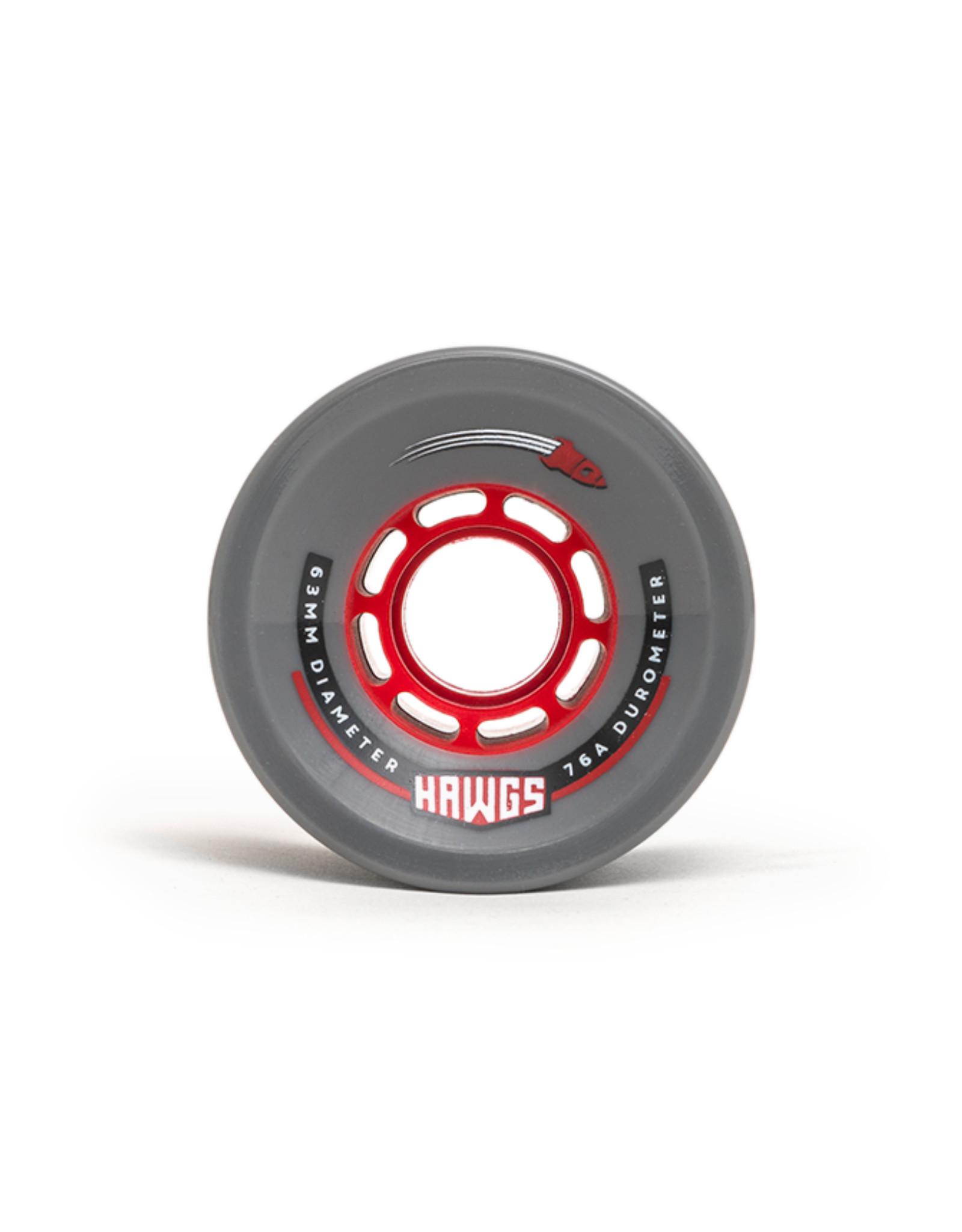 Hawgs Wheels Hawgs Rocket Rollen 63 mm 76A Grey 4er-Set